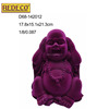 Resin laughing buddha,resin flocked buddha figures for indoor decoration