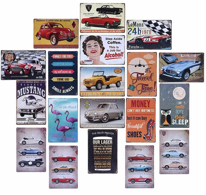 2017 factory direct sale 20x30cm vintage tin sign retro metal tin signs