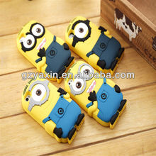 one direction silicone phone case,soft rubber Despicable Me minions case for iphone 5 5s