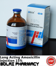 antibiotics drug Long acting amoxicillin injection 15% vet drug