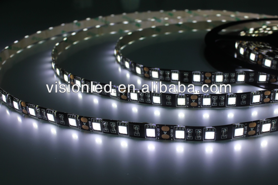 High Quality Flexible led strip black color PCB white