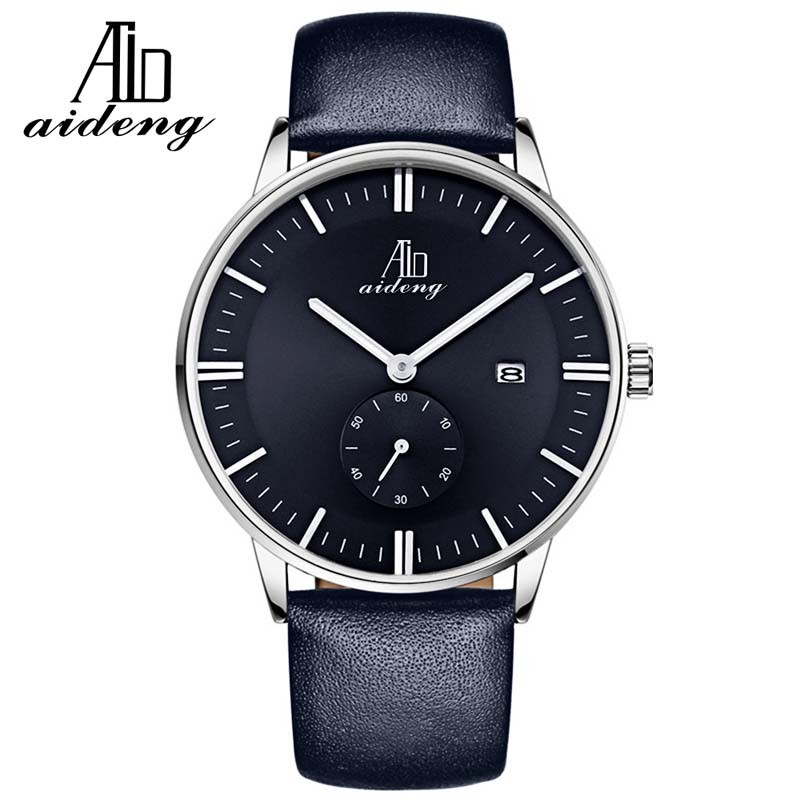 Fashion Stainless Steel Back Case Luxury Sport Analog Quartz Clock Mens Wrist Hand Watch