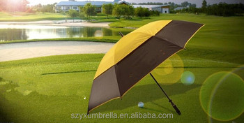 Accepted test order fiberglass windproof golf umbrella