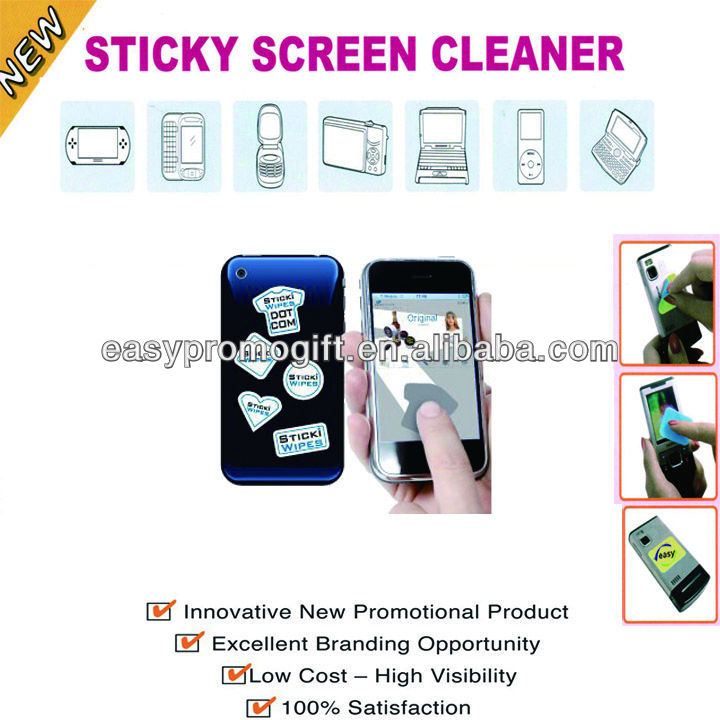 Hot sell premium Gift microfiber phone cleaner sticker