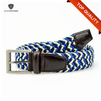 2015 New Product Good Quality Webbing Braided Rope Belt for Men