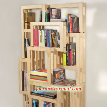 Modern Furniture Design Wooden Portable Bookshelf For Office Or Home