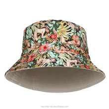 Fashion 3D Floral Printing Polyester Bucket Hat For Young Ladies Wearing Holiday Bucket Hat