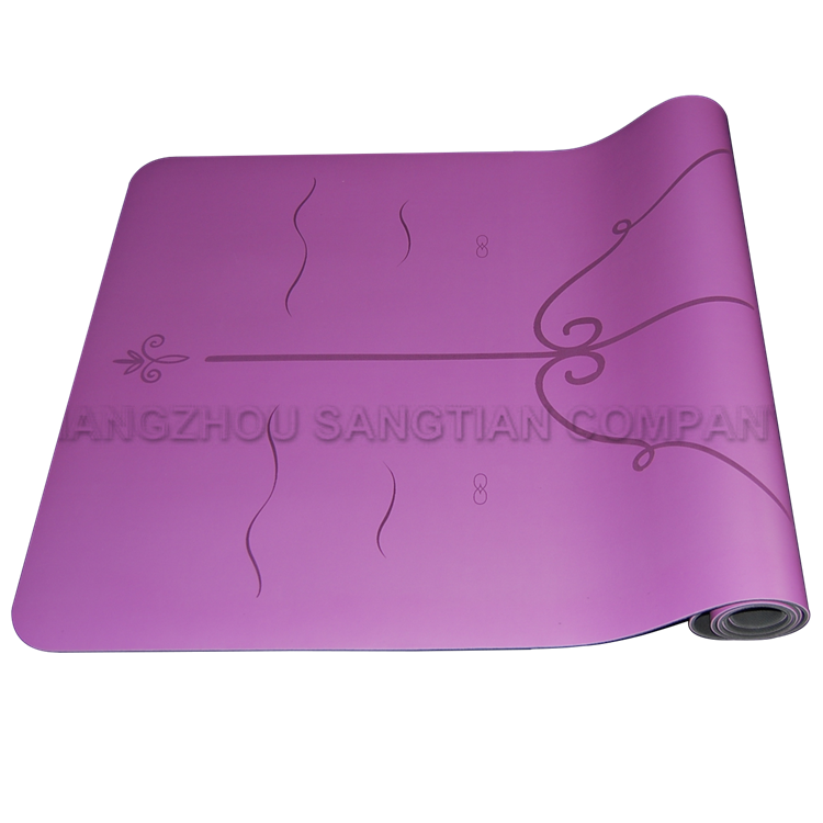 Custom design soft natural rubber yoga mat