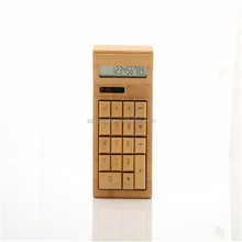 ECO Friendly 12 Digital Calculator, Desktop Bamboo Solar Calculator