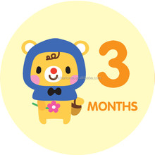 Baby Monthly Stickers with Milestones & Holidays - Birthday Shower Gift for Boys & Girls Baby Monthly Stickers