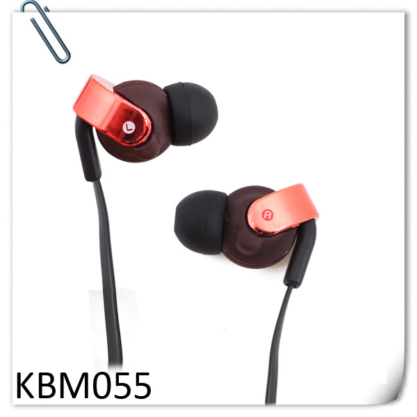 KUBE OEM-055 Mini earphone with OEM logo printing with mic OEM for Samsung,MP3 MP4,PC,Laptop