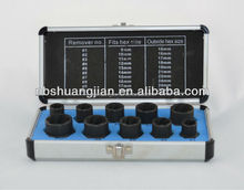 Manufactured in China damaged bolt/nut remover set 10PC