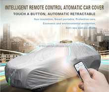2017 High end Portable Electrical Heated Smart Waterproof Retractable Garage Full Automatic Easy Car Cover