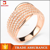 China suppliers jewelry supply 925 silver white cz stone rose gold plating Egyptian ring