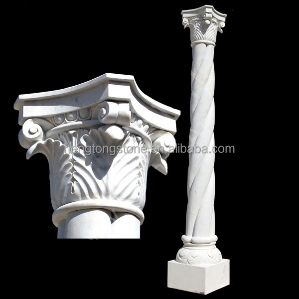 Hand Carved Marble Stone Roman Pillar For Sale