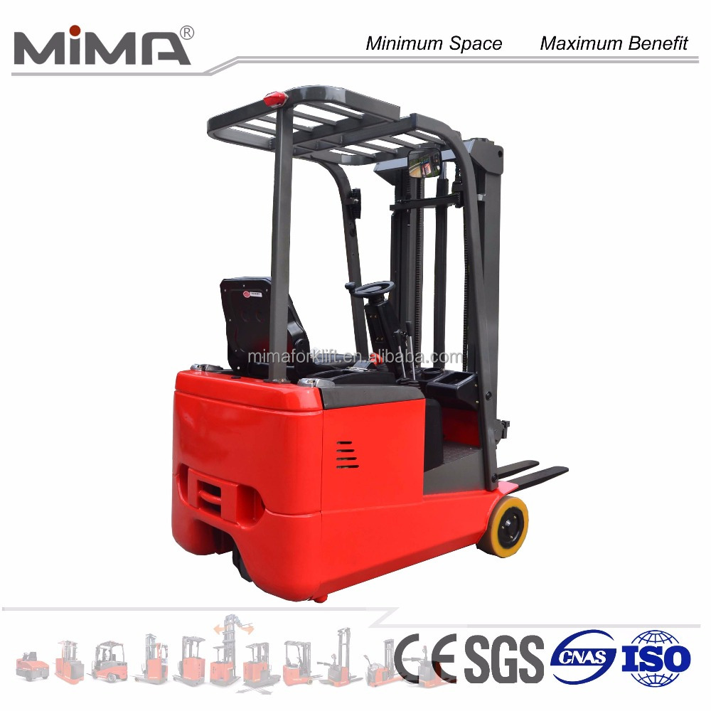 MIMA 1.0T three Wheel Electric Forklift Truck with AC motor
