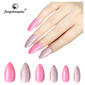 fengshangmei nail art coloured false nails eco-friendly acrylic nail tips plain artificial nail tips