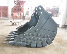 Plastic ISO-certified excavator reinforced bucket for sale 400W