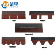 Chinese Supplier Construction Building Material Asphalt Roofing Shingles tiles