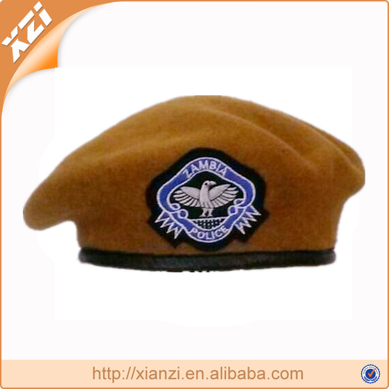 Zamaia army beret embroidery badge military police officer beret