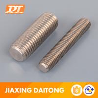 Short Thread Rod Din976 Grade 4.8 8.8 10.9 12.9 Carbon/Stainless Steel Plain Black Zinc Plated HDG Threaded Rods Bar