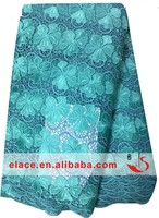 Lovely quatrefoil floral corded fancy textile lace fabric with beads for spring summer dress