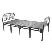 Folding single metal bed frame