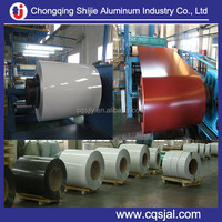 Chinese factory supply brown / blue / white / silver colour coated aluminum coil 0.2~1.2mm thick
