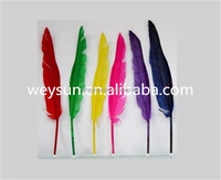 leaf decorate popular goose quill ball point pen for girls
