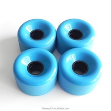 High quality customized 70mm blue color PU skateboard wheels 4 pieces sets pure wearproof skateboard wheels