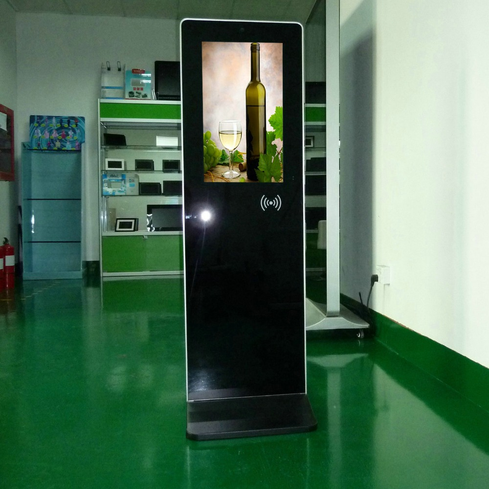 21.5 inch free online floor standing shopping mall led advertising <strong>screen</strong>