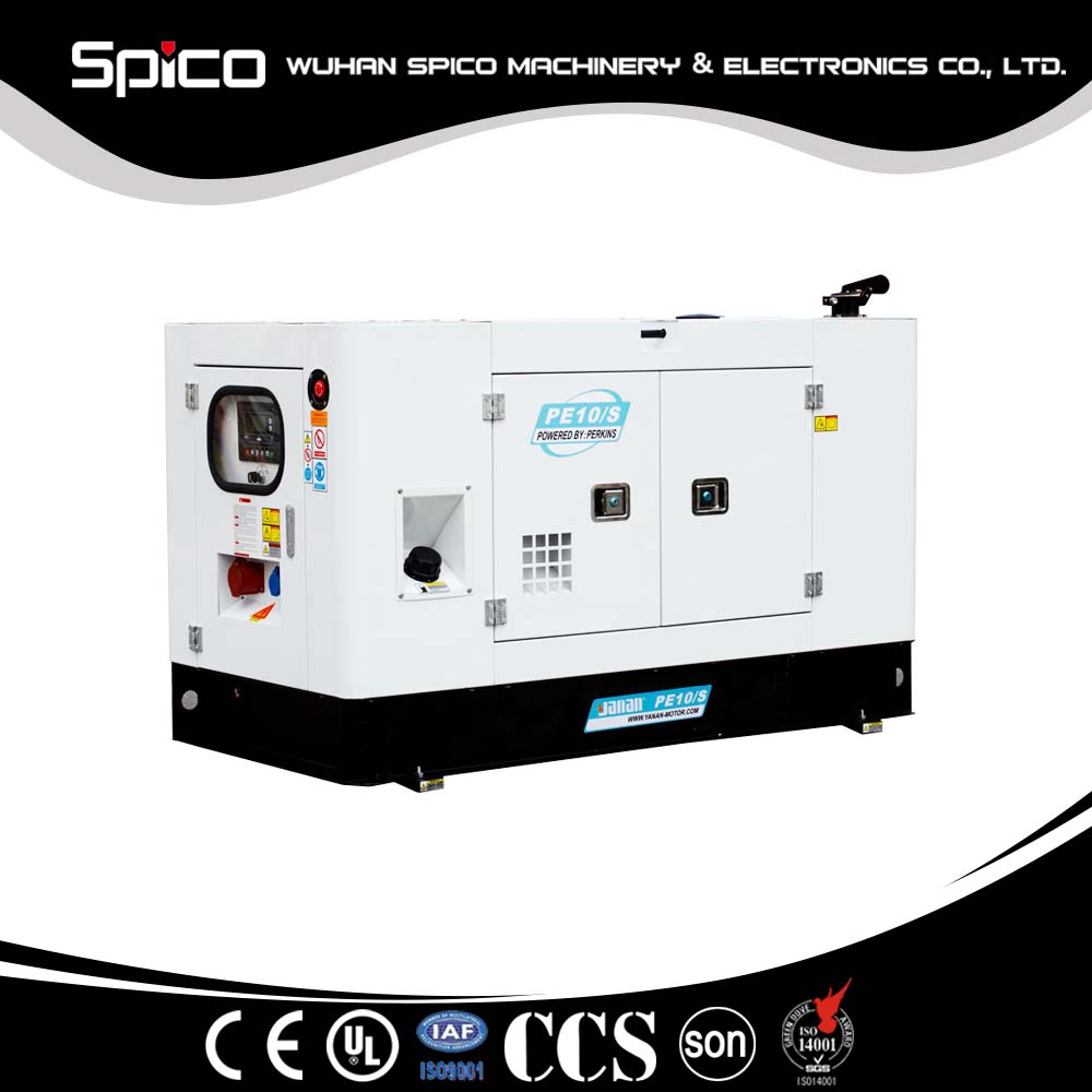 9kva Silent type generator set powered by Three Cylinder diesel engine