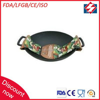 Hot sale pre-seasoned cast iron hand made chinese wok support
