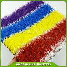 runway red yellow blue white artificial grass for sport