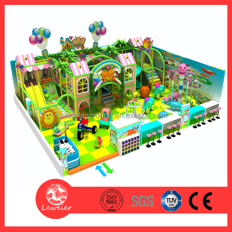 Candy theme children indoor soft play areas Kids play system structure for games Children's Park