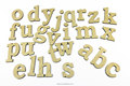 Lowercase 26 Wooden Alphabet Letters Wall Hanging
