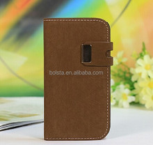 Squirrel Grain Suede Leather case for china galaxy s4 mobile phone