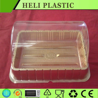 plastic cake PET/PVC/PP/PS material container disposable transparent