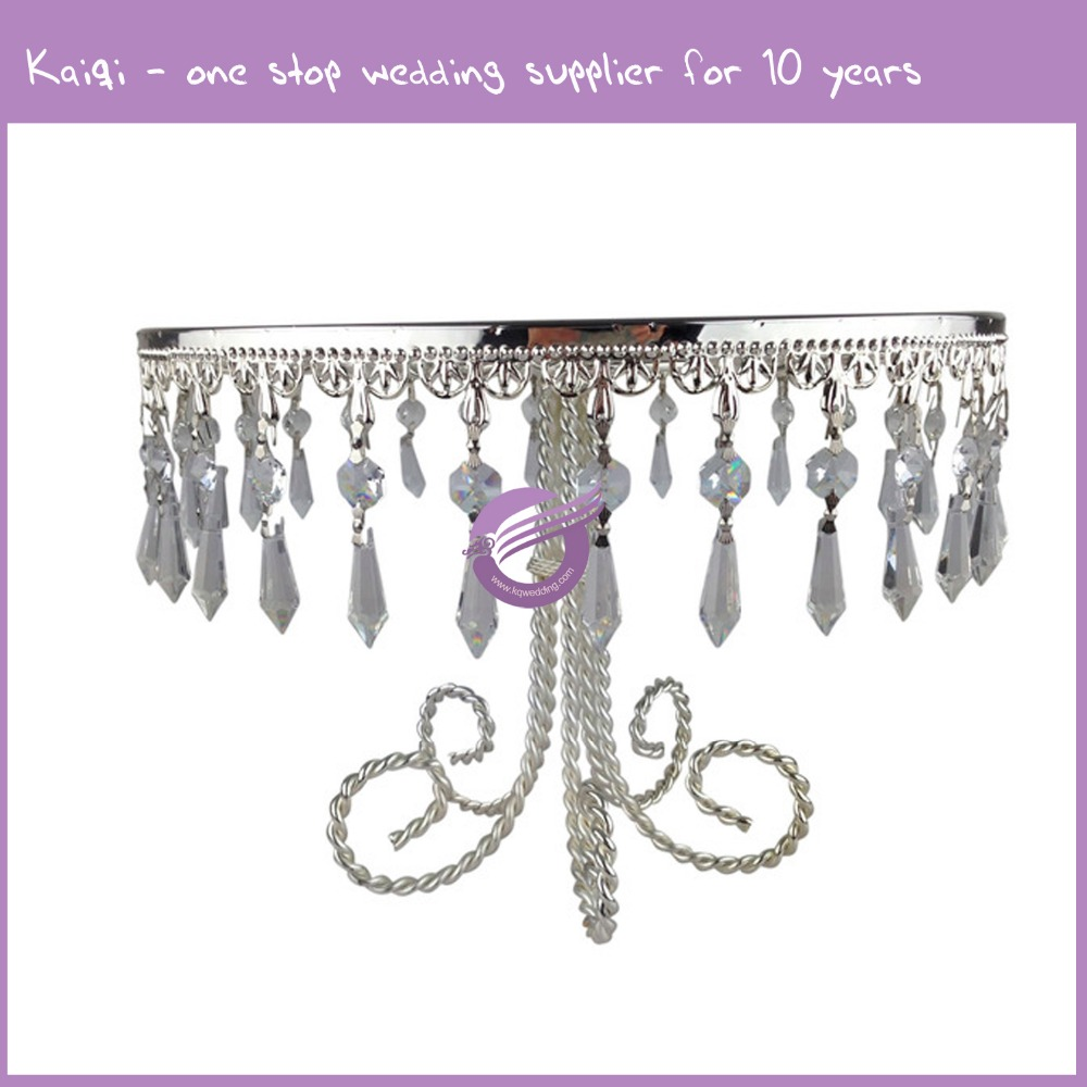 16926-2 Decorative Acrylic Crystal Chandelier Wedding Cake Stand Centerpiece Supplies UK Decorating Accessories Designs Ideas