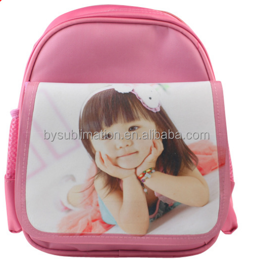 lovely dog overall sublimation printing hich school book bags for girls