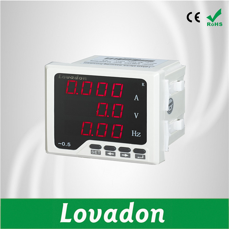 Digital Only LED Display Type three  Phase Current Voltage Frequency Meter Multi-function Smart Electric Meter