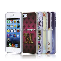 Customs Colorful Printting Case For Iphone5 5S , Mobile Phone Printing Case 100pcs/Design