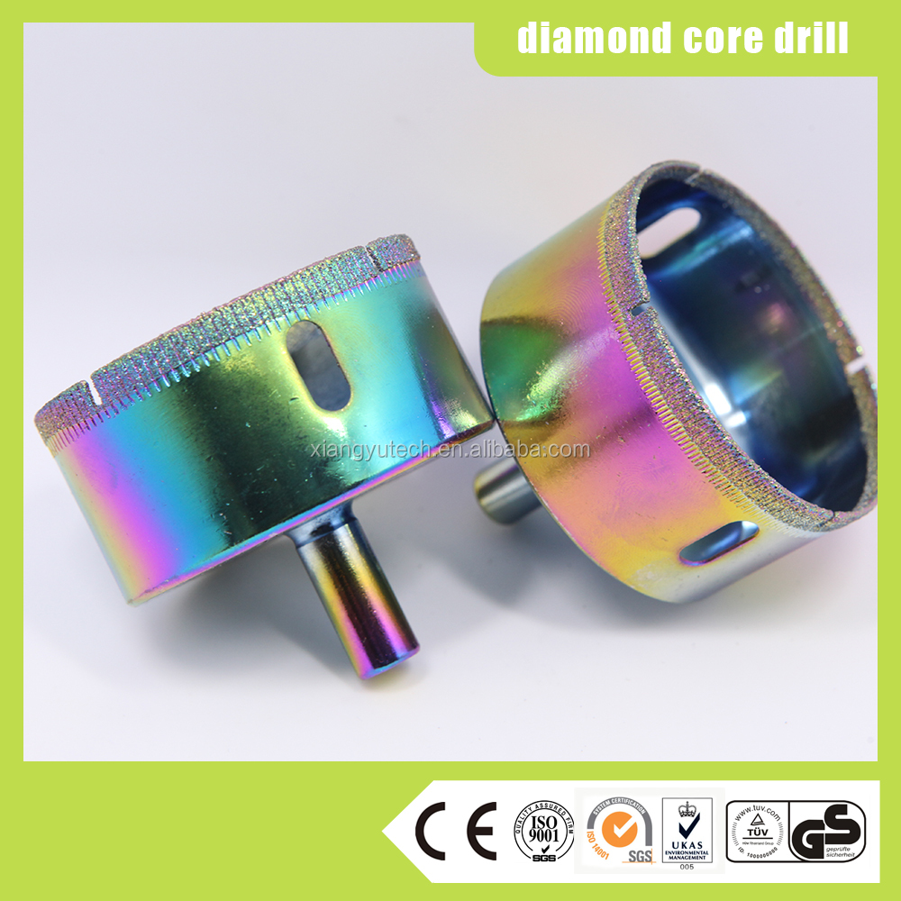 Straight Shank Glass Diamond Core Drill Bits for glass and stone