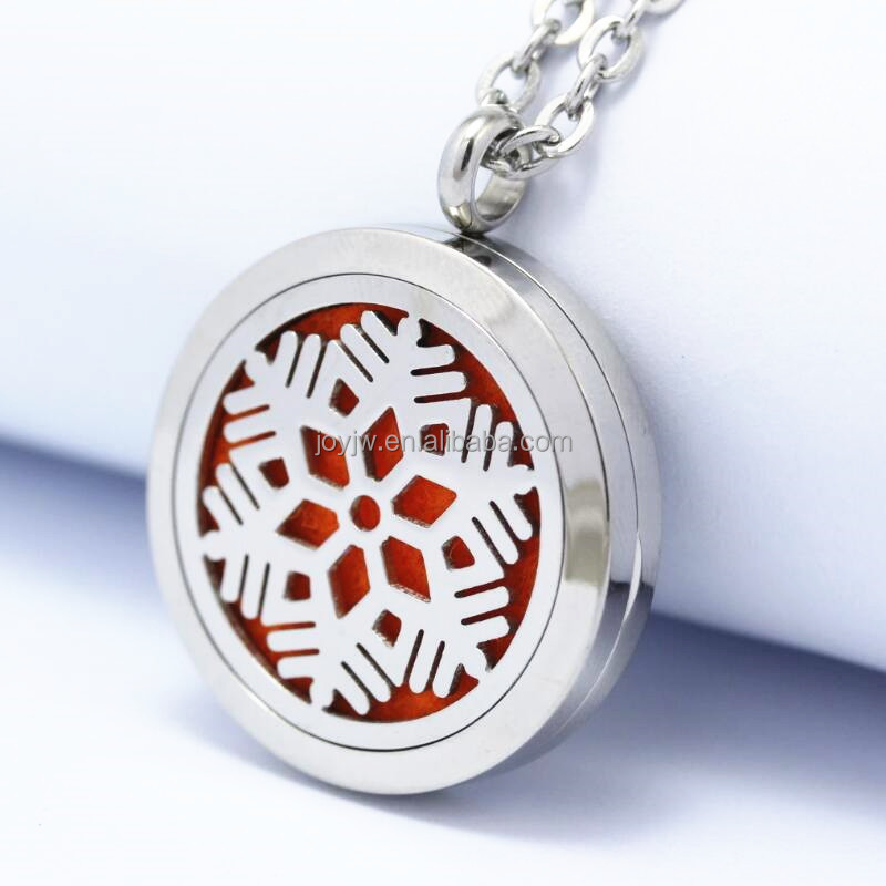 Custom Carvescalar Scalar Energy SNOW Stainless Steel Pendant