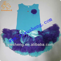 Petti colorful purple kid suit baby tutu set for girls