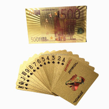 gold foil plastic Euro 500 style Advertising Poker Type playing card box