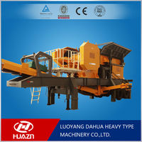 Luoyang Dahua small mobile crusher equipment civil construction YD mobile crushing plant