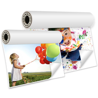"Waterproof strong stickness 115/135gsm high glossy photo paper 24"" 36"" 42""*30M"