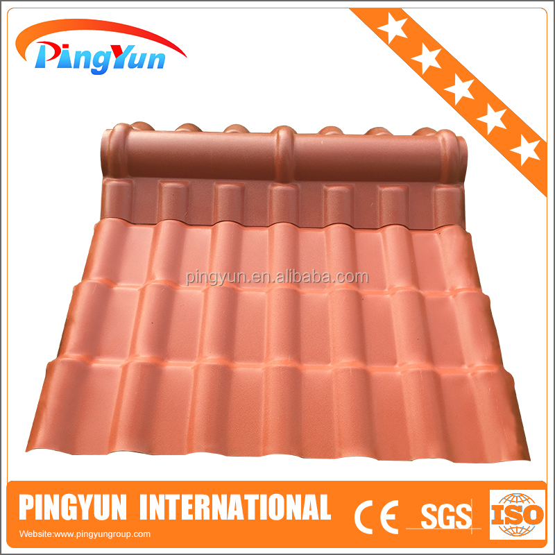 synthetic resin roof tile/color roof with price/building material manufacturer