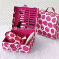 cosmetic brush set with travel bag beautiful colorful